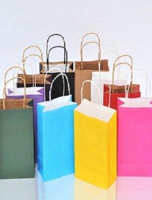 sac shopper papier couleur les emballages 123. Black Bedroom Furniture Sets. Home Design Ideas