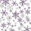 Silver purple snowflakes