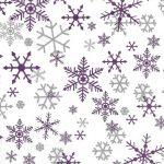 Silver purple snowflakes | 323-200B > 200 feuilles rame