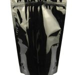 Noir > Stand up pouch métallisé