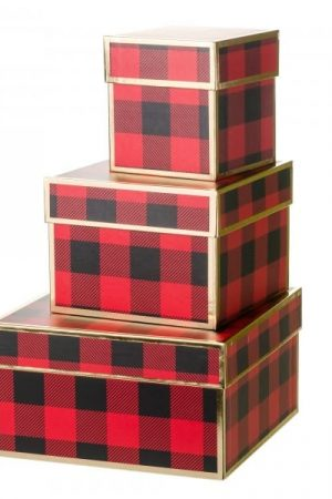 Boîtes cadeaux Tartan