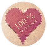 100% Coeur rouge > fond kraft