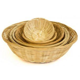 Paniers rond en bambou