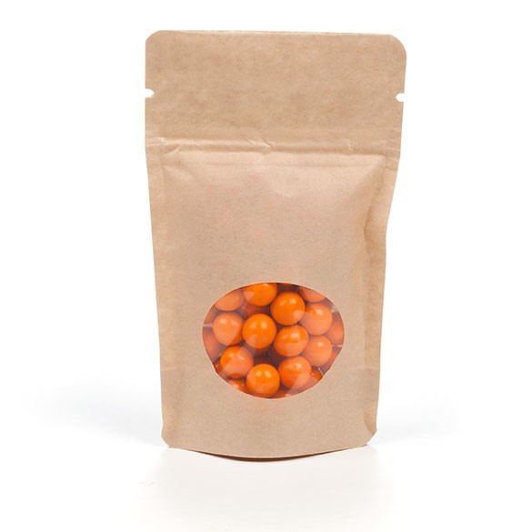 Stand up pouch kraft avec fen tre les emballages 123 for Fenetre 123