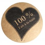 100% Coeur noir > fond kraft