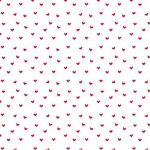 Blanc mini coeur rouge > 100 feuilles la rame